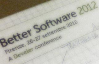 better software 2012 a firenze